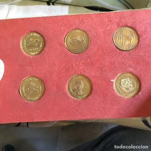 Lote de 6 medallas ceca el navegante
