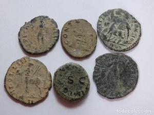 Lote monedas romanas bajos imperios