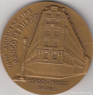 MEDALLA:  PARIS. 75 ANIVERSARIO DEL BANCO DE BILBAO
