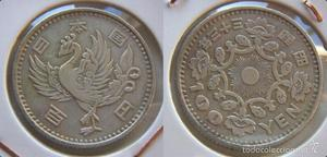 MONEDA DE CHINA JAPON 100 YEN  plata