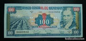 NICARAGUA 100 CÓRDOBAS . Pick 178. Nºbajo. SC