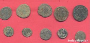 lote de 10 monedas romanas