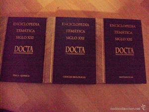 3 tomos de la enciclopedia tematica siglo XXI