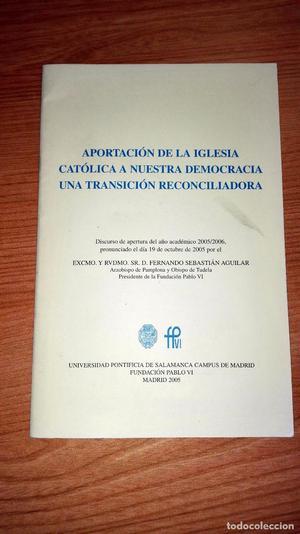 APORTACIÓN DE LA IGLESIA CATÓLICA A NUESTRA DEMOCRACIA UNA