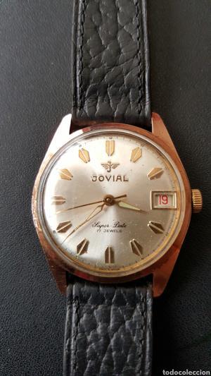 Bonito Reloj de cuerda JOVIAL17 GEWES CHAPADO EN ORO