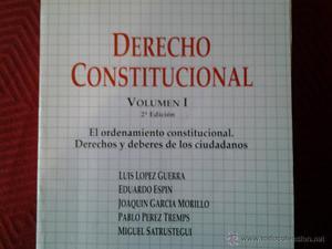 DERECHO CONSTITUCIONAL VOLUMEN 1