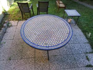 Mesa para jard n de forja y mosaico posot class for Mesa mosaico jardin