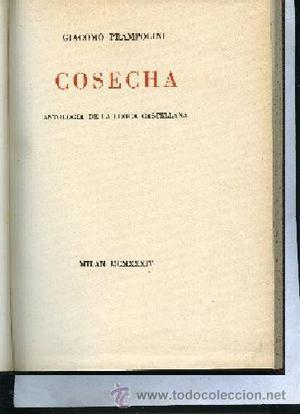 PRAMPOLINI COSECHA, ANTOLOGIA DE LA LIRICA CASTELLANA con