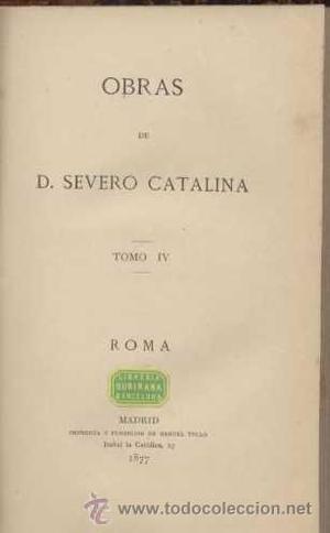 ROMA. Tomo III / D. Severo Catalina /