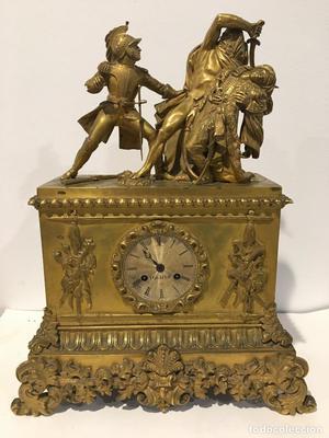 Reloj Napoleon III en bronces dorados francia