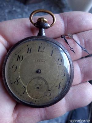 Reloj de bolsillo antiguo anverso Eibar reverso numero de