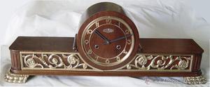 Reloj de sobremesa marca Román, Restaurado, mediados del