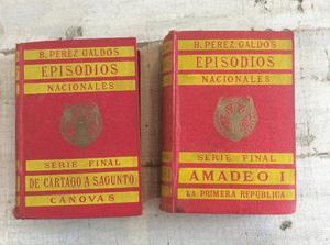 Tomo 23 y 22 de EPISODIOS NACIONALES DE BENITO PÉREZ