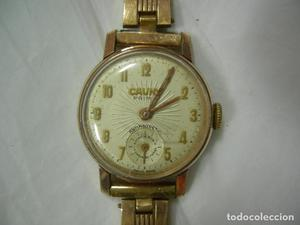 antiguo reloj de SEÑORA CARGA MANUAL CAUNY PRIMA 15 RUBIES-