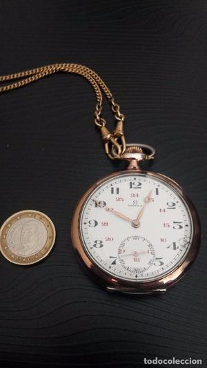 reloj bolsillo OMEGA tres tapas de plata 800 milésimas