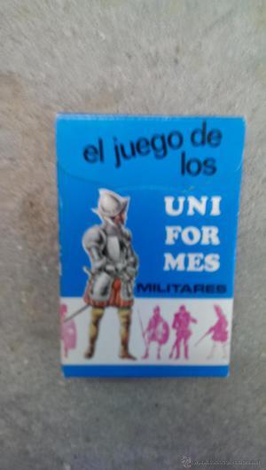 CARTAS EL JUEGO DE LOS UNIFORMES