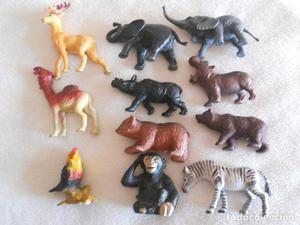 LOTE 11 MUÑECOS - FIGURAS ANIMALES DIFERENTE TIPOS