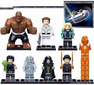 LOTE 9 FIGURAS LEGO COMPATIBLE MARVEL 4 FANTASTICOS - NUEVO