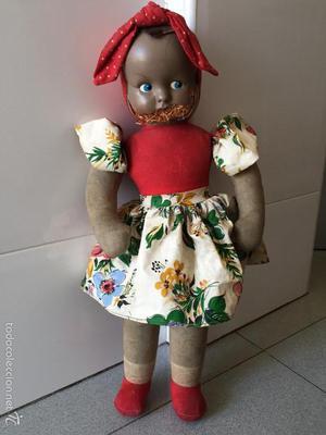 Muñeca Antigua. Mide 48cm, CELULOIDE TRAPO