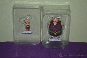 Par de figuras de resina de Asterix y