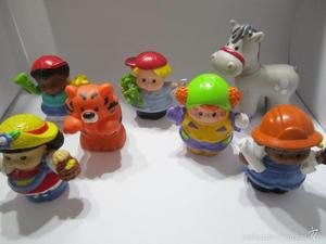 lote 7 figuras fisher price little people