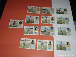 13 CROMOS MALAGA ALBUM LIGA DE FUTBOL  FHER DISGRA