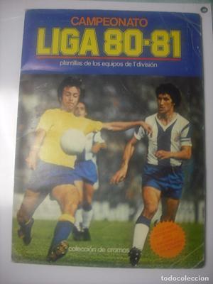 ALBUM DE CROMOS FUTBOL CAMPEONATO DE LIGA  - EDICIONES