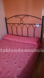 Cama de matrimonio de 1,35 cm y cama infantil de 70 cm