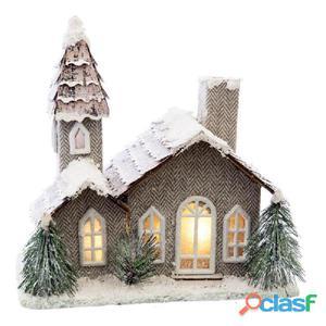 Casa con luz LED cartón 23x15x24cm