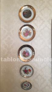Conjunto 10 platos de porcelana antigua