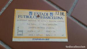 ENTRADA FC BARCELONA - ELCHE. LIGA ESPAÑOLA