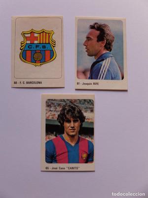 LOTE 3 CROMOS DEL FC BARCELONA TEMPORADA  EDITORIAL