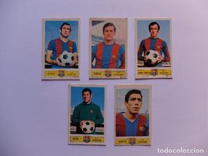LOTE DE 5 CROMOS DEL FC BARCELONA  EDICIONES ESTE.