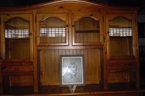 Mueble salon pino rustico ultimas unidades posot class - Mueble de pino ...