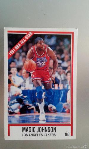 NBA TEMPORADA  LOS ANGELES LAKERS - MAGIC JOHNSON Nº 90