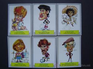 REAL MADRID - KARIKATAS de Ediciones ESTE - 6 cromos