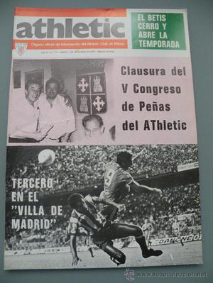 REVISTA OFICIAL ATHLETIC NººCONGRESO PEÑAS