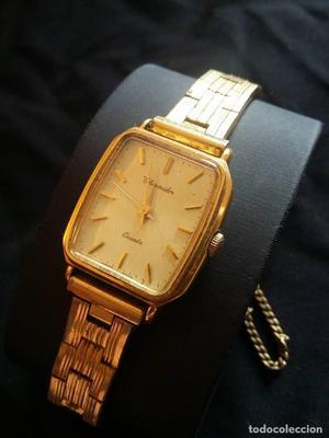 Reloj de pulsera señora THERMIDOR chapado en oro de cuarzo.