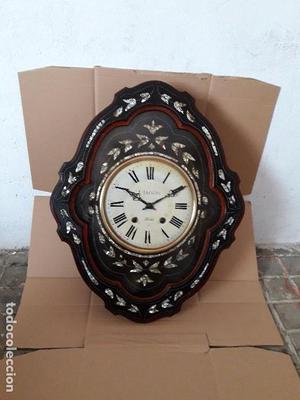 Reloj ojo Buey antiguo máquina Morez raras formas nacar
