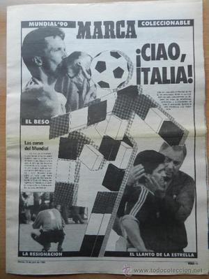 SUPLEMENTO DIARIO MARCA MUNDIAL ITALIA 90 ESPECIAL RESUMEN