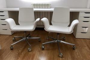 9 sillas monoblock blancas modelo benidorm nuevas posot for Sillas polipiel blancas