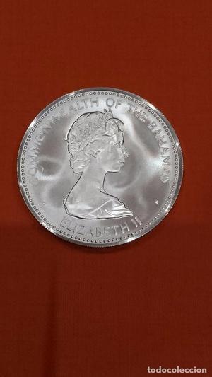 10 dolares bahamas, plata , se envia la de la foto