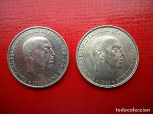 2 monedas de 100 pesetas de  - Estrella 66