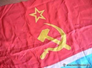 BANDERA DE LA REPUBLICA SOCIALISTA SOVIETICA DE UZBEKISTAN.