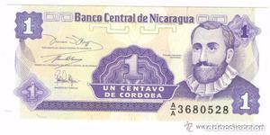 BILLETE DE NICARAGUA, 1 CENTAVO (LOTE 1)