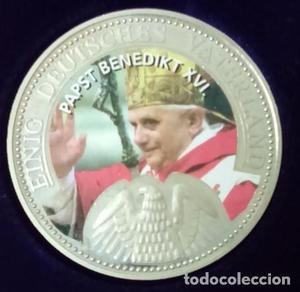 CURIOSA MONEDA DEL PAPA BENEDICTO XVI POR LA UNIFICACION DE