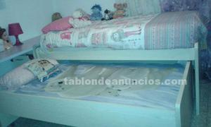 Cama nido y colchones (muebles habitación juvenil)
