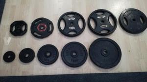 Discos y barras de gimnasio