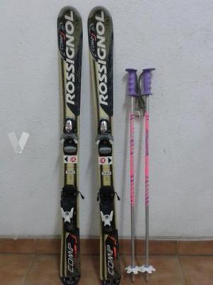 Esquís y palos junior