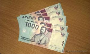 Indonesia: lote 5 billetes  rupias  sin circular